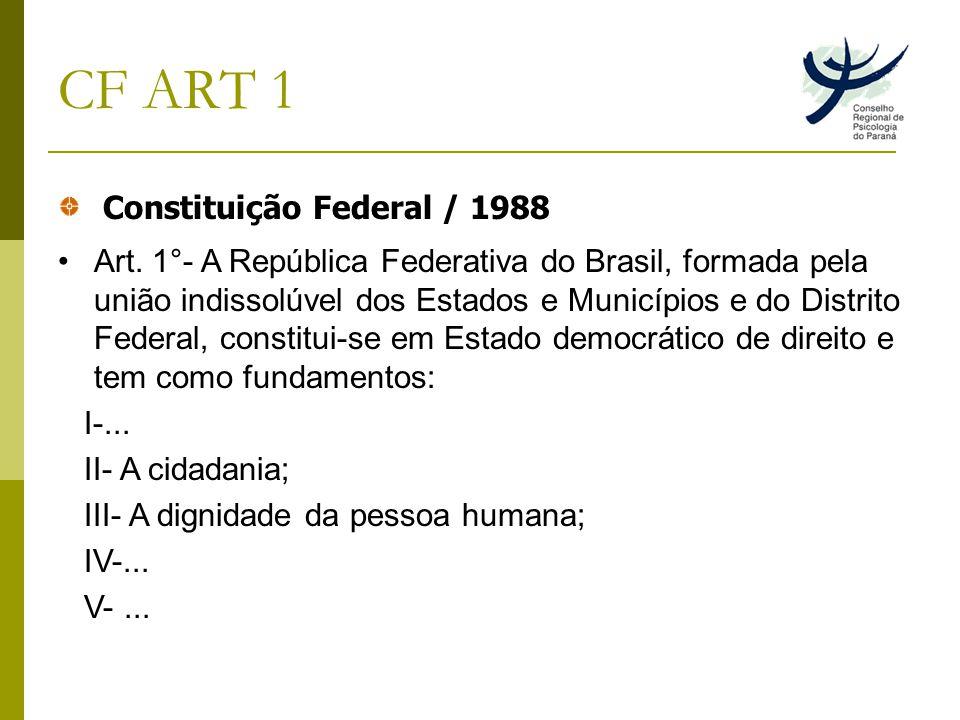 CF ART 1 Constituição Federal / 1988 Art.