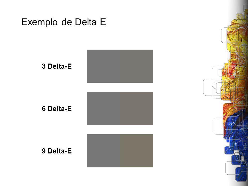 Exemplo de Delta E 3 Delta-E6 Delta-E9 Delta-E
