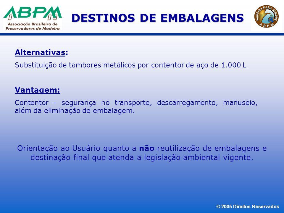 © 2005 Direitos Reservados OBRIGADA.ABPM ASSOCIAÇÃO BRASILEIRA DE PRESERVADORES DE MADEIRA Av.