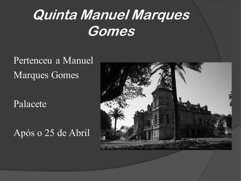 Quinta Manuel Marques Gomes Pertenceu a Manuel Marques Gomes Palacete Após o 25 de Abril