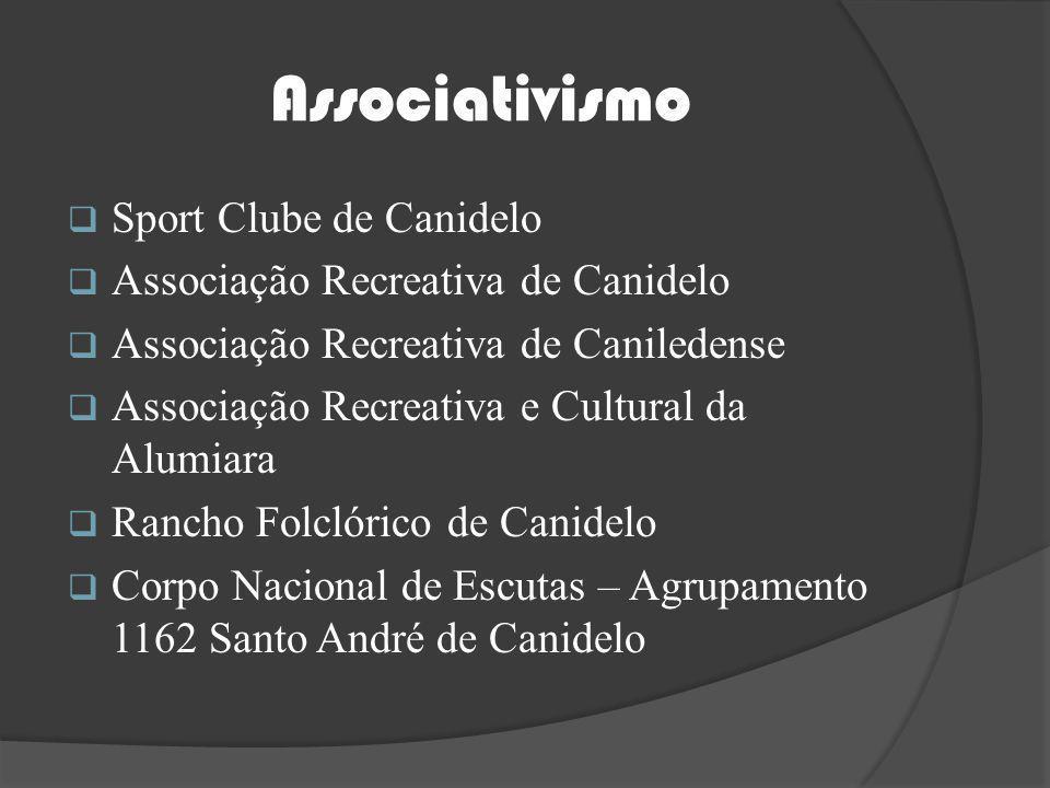 Associativismo Sport Clube de Canidelo Associação Recreativa de Canidelo Associação Recreativa de Caniledense Associação Recreativa e Cultural da Alum