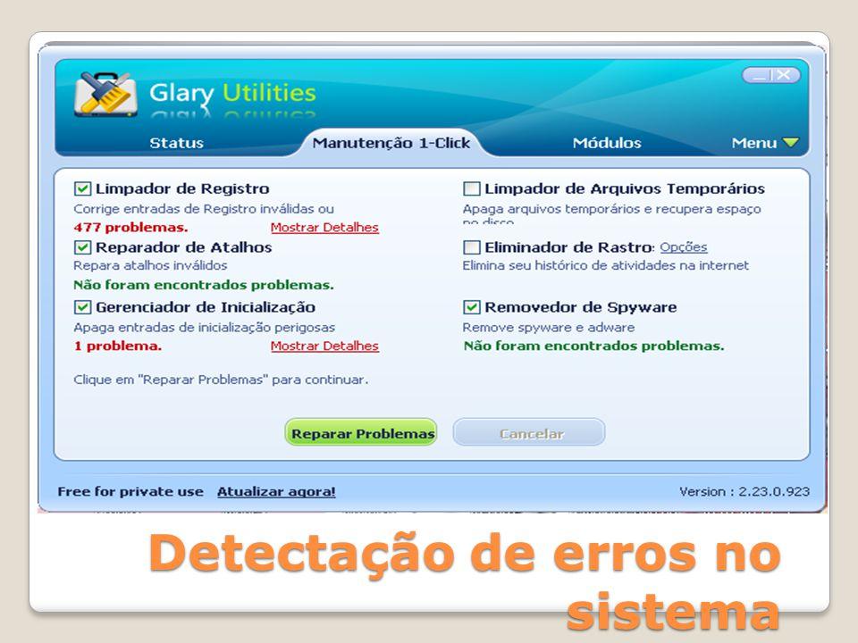 Detectação de erros no sistema
