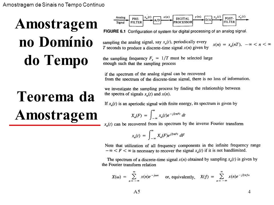 A515 Quantificação e Codificação Conversão Analógica Digital A05