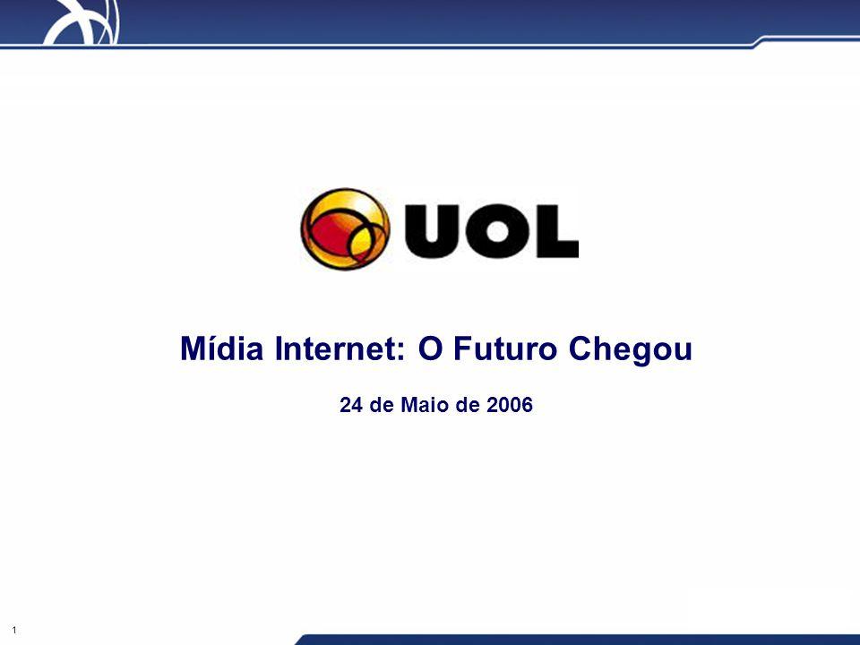 1 Mídia Internet: O Futuro Chegou 24 de Maio de 2006