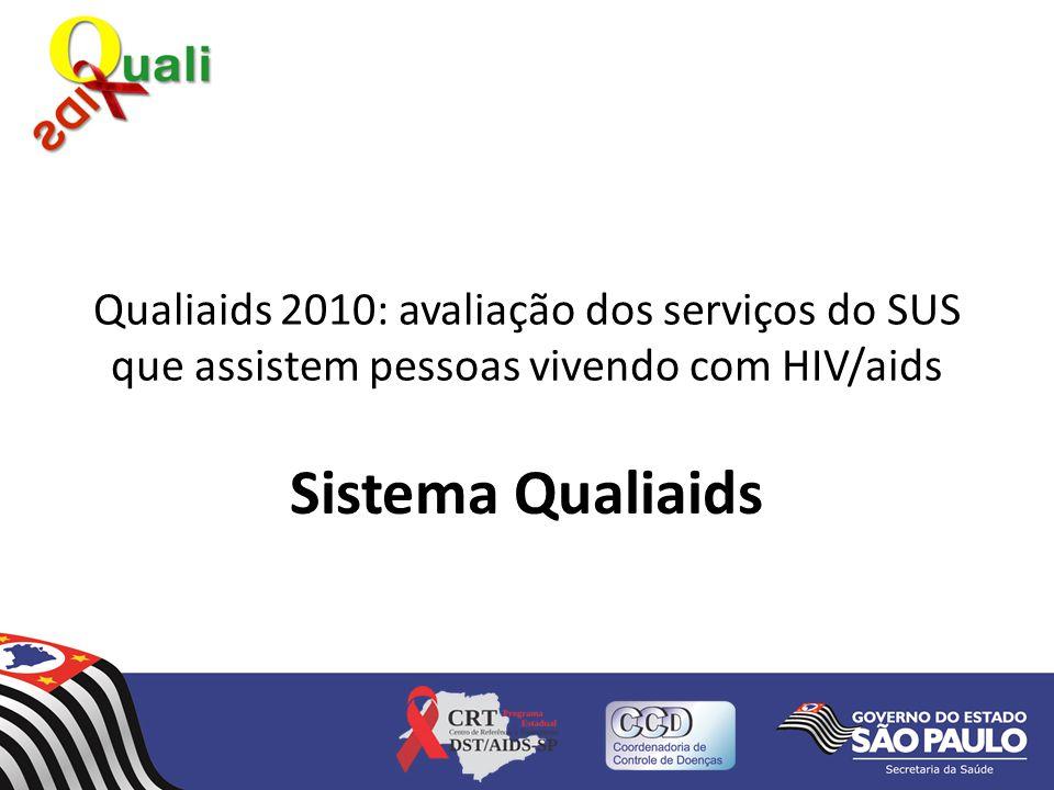 Qualiaids 2010: avaliação dos serviços do SUS que assistem pessoas vivendo com HIV/aids Sistema Qualiaids