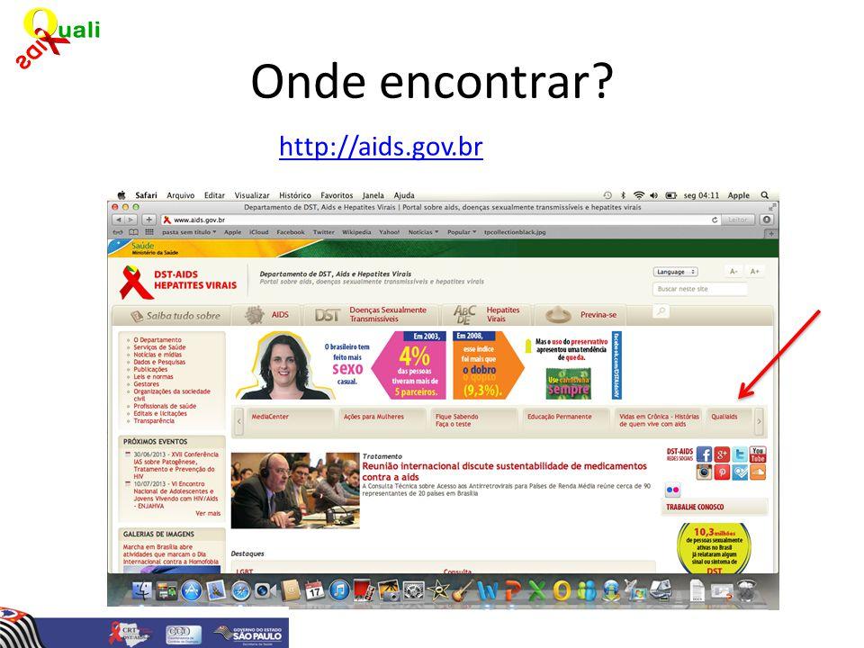 Onde encontrar? http://aids.gov.br
