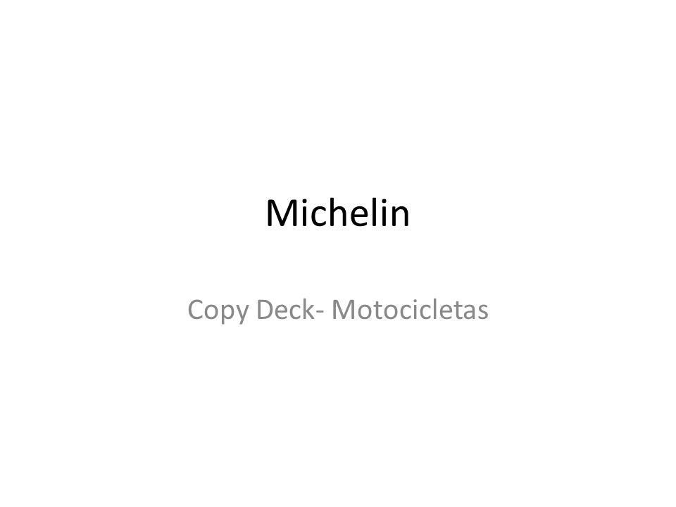 Michelin Copy Deck- Motocicletas