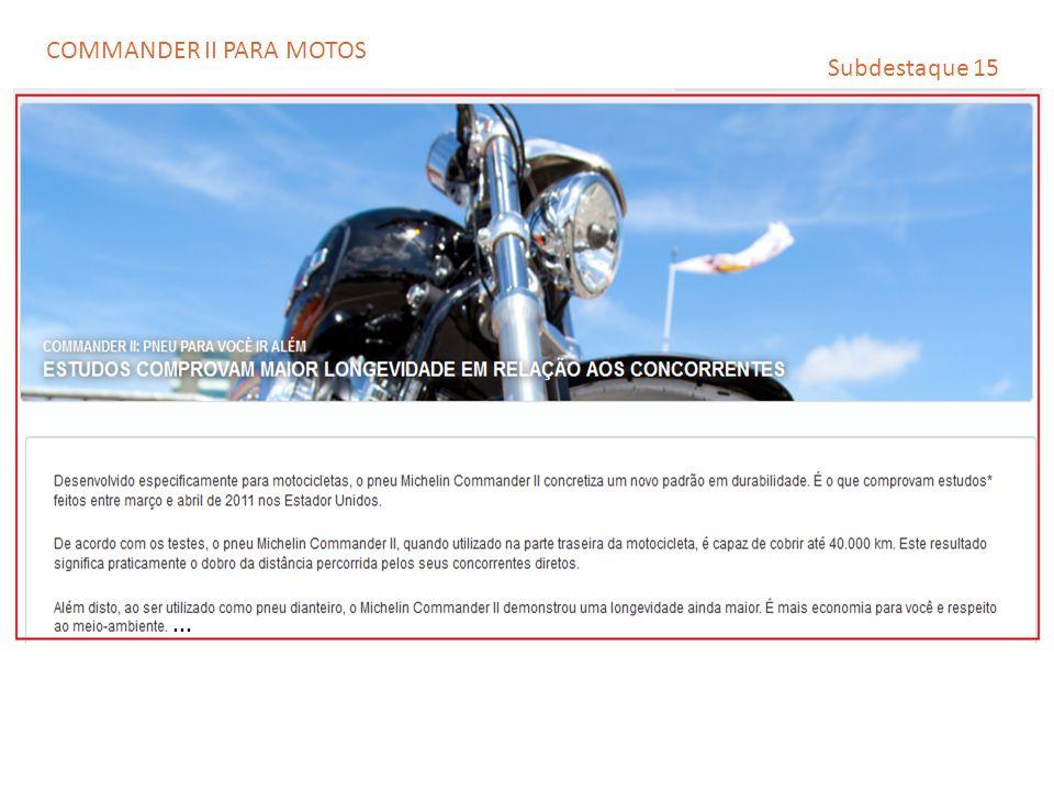 Subdestaque 15... COMMANDER II PARA MOTOS