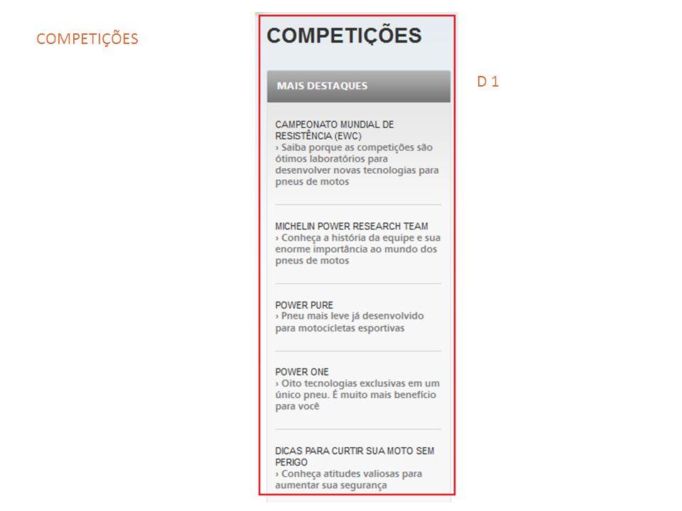 D 1 COMPETIÇÕES