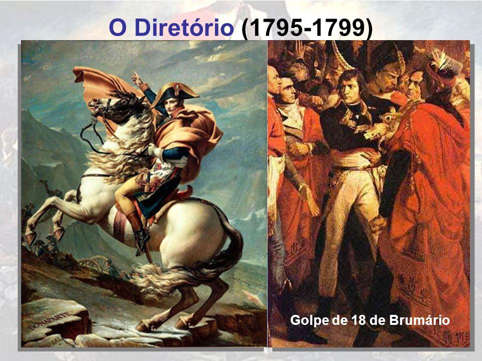 O Diretório (1795-1799) FRANÇA INGLESES HOLANDESES AUSTRÍACOS PRUSSIANOS PIEMONTESES Golpe de 18 de Brumário
