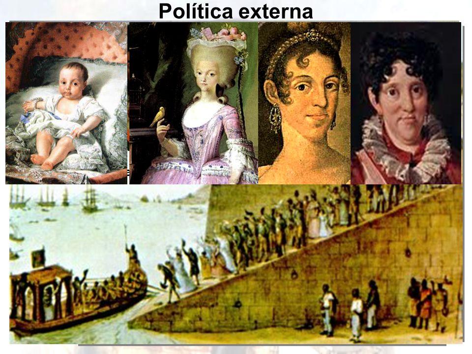 Política externa Carlos IVFernando VII D. João Jorge III Alexandre I José Bonaparte General Junot Chegada da Corte Portuguesa