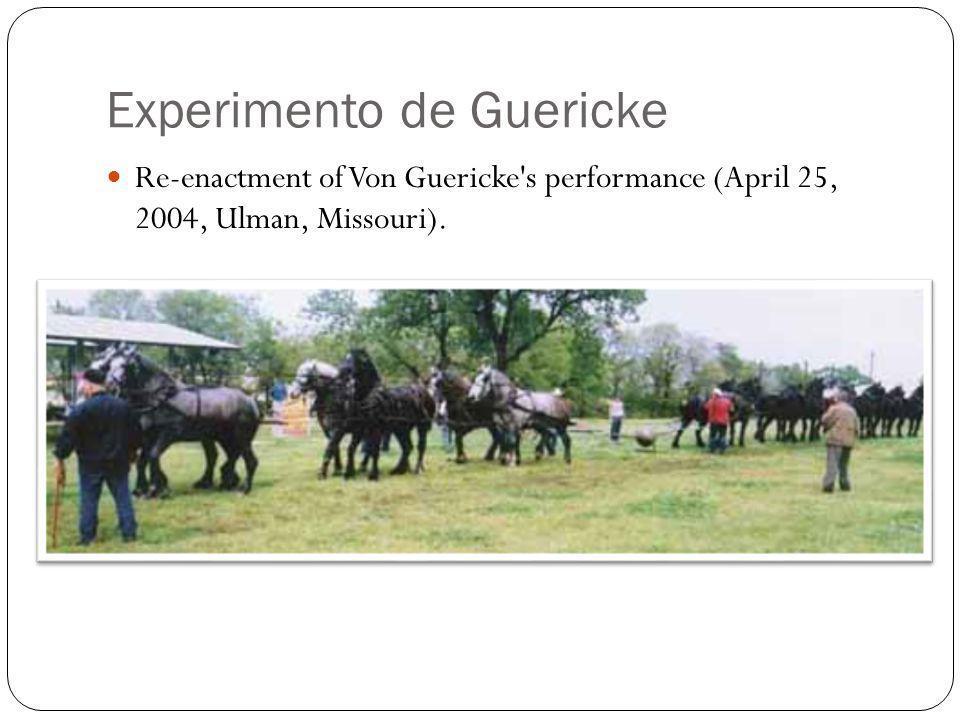 Experimento de Guericke Re-enactment of Von Guericke's performance (April 25, 2004, Ulman, Missouri).