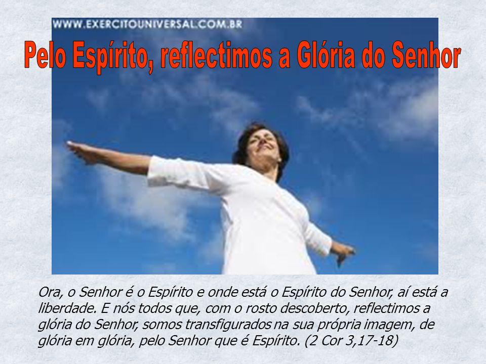 Ora, o Senhor é o Espírito e onde está o Espírito do Senhor, aí está a liberdade. E nós todos que, com o rosto descoberto, reflectimos a glória do Sen