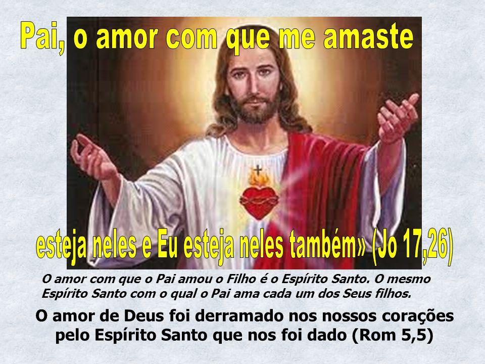 O amor com que o Pai amou o Filho é o Espírito Santo. O mesmo Espírito Santo com o qual o Pai ama cada um dos Seus filhos. O amor de Deus foi derramad