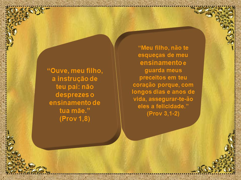 O temor ao Senhor é o princípio da sabedoria. Os insensatos desprezam a sabedoria e a instrução. (Prov 1,7) Uma resposta branda aplaca o furor, uma pa