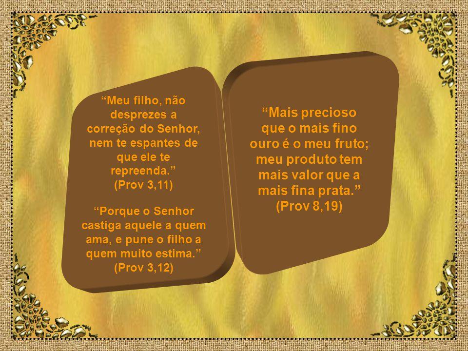 Meu filho, se pecadores te quiserem seduzir, não consintas. (Prov 1,10) Evita-o, não passes por ele, desvia-te e toma outro. (Prov 4,15) Na estrada do