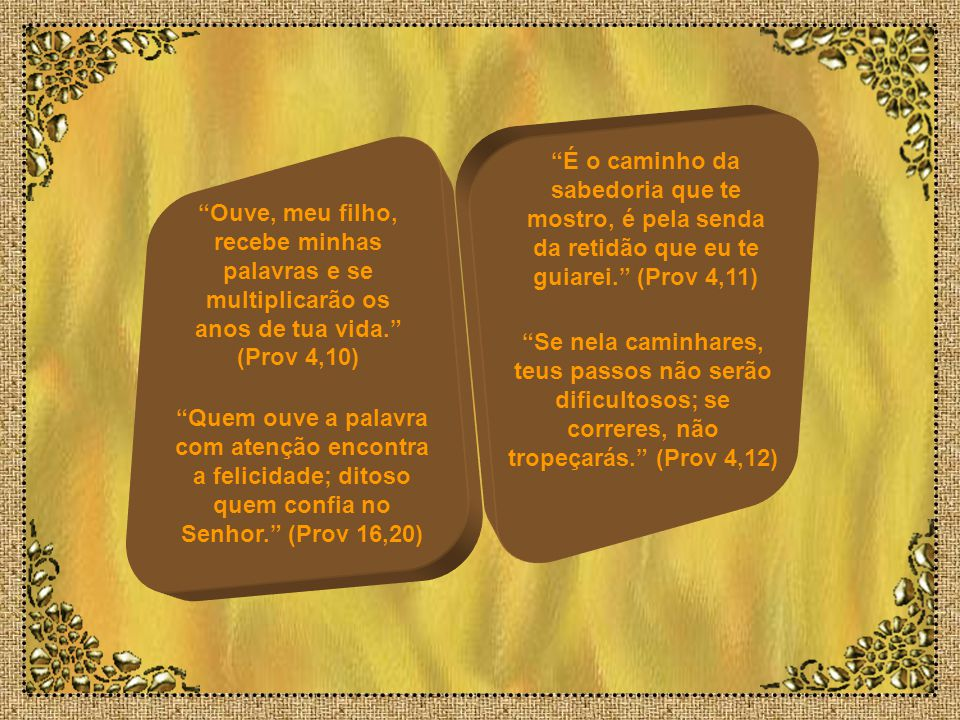 Meu filho, não desprezes a correção do Senhor, nem te espantes de que ele te repreenda. (Prov 3,11) Porque o Senhor castiga aquele a quem ama, e pune