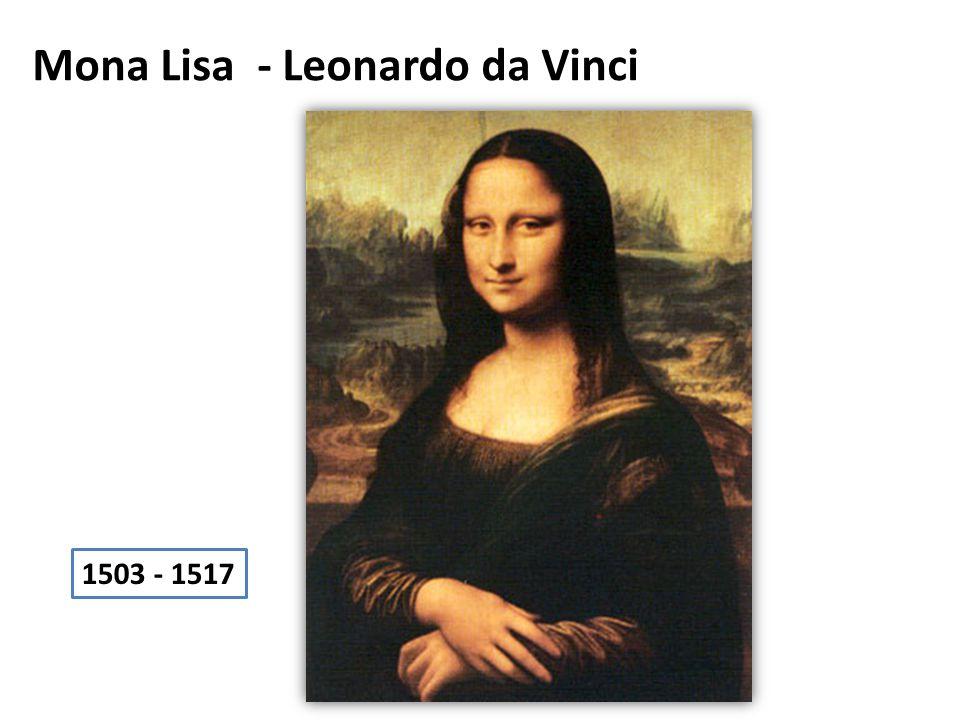 Mona Lisa - Leonardo da Vinci 1503 - 1517