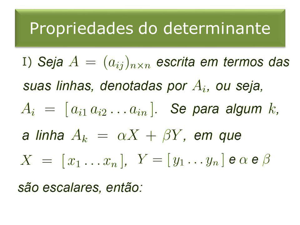 Propriedades do determinante I)