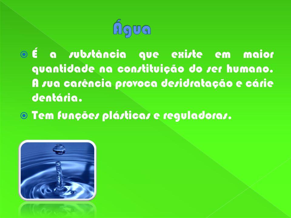 É a substância que existe em maior quantidade na constituição do ser humano.