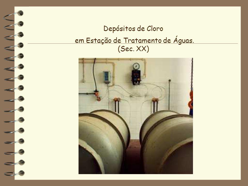 Depósitos de Cloro em Estação de Tratamento de Águas. (Sec. XX)