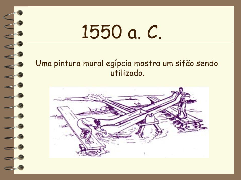 1485 a.C Um grego chamado Dános é conhecido como o pai de uma bomba de água muito eficiente.