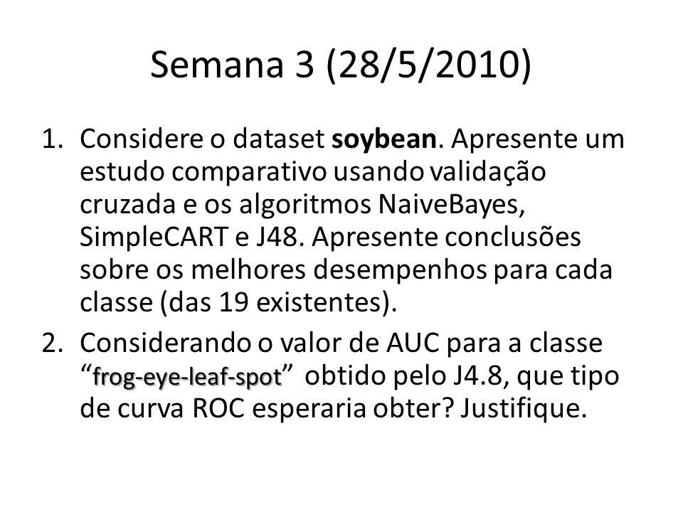 Semana 3 (28/5/2010) 1.Considere o dataset soybean.