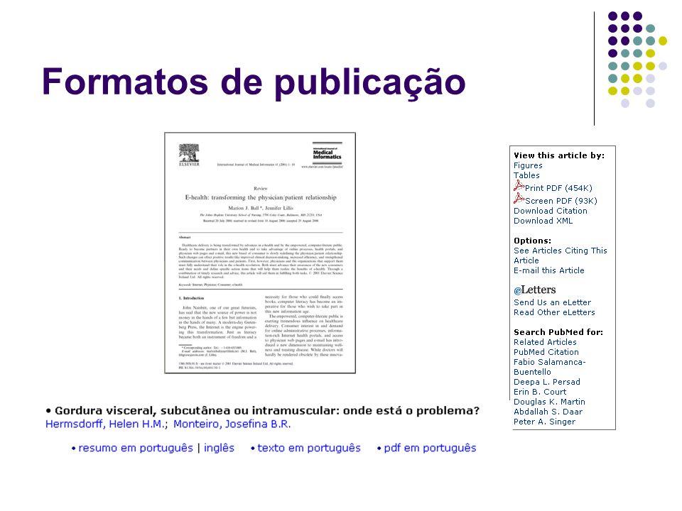 Formatos de publicação