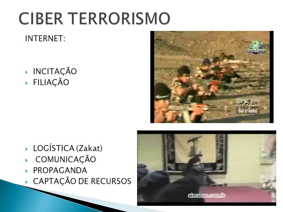 INTERNET: INCITAÇÃO FILIAÇÃO LOGÍSTICA (Zakat) COMUNICAÇÃO PROPAGANDA CAPTAÇÃO DE RECURSOS