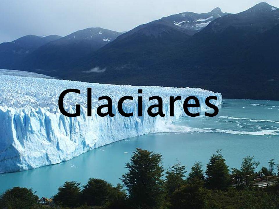 Glaciares são massas de gelo São originados na superfície terrestre