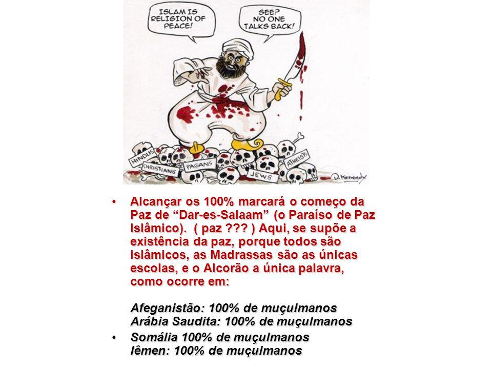 Alcançar os 100% marcará o começo da Paz de Dar-es-Salaam (o Paraíso de Paz Islâmico).