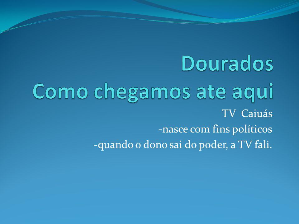TV Caiuás -nasce com fins políticos -quando o dono sai do poder, a TV fali.