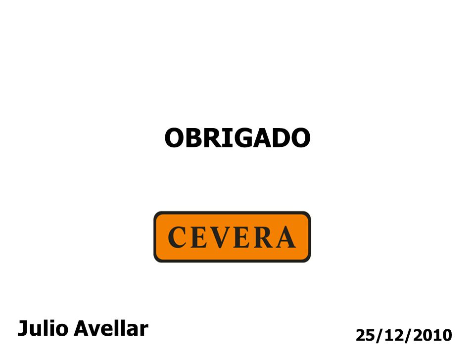 25/12/2010 OBRIGADO Julio Avellar