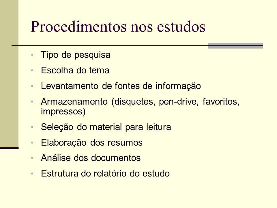 Critérios de avaliação Título Autoridade (link) Instituição Data da criação ou revisão Público-alvo (no contexto) Propósito da informação: informa, exemplifica ou julga