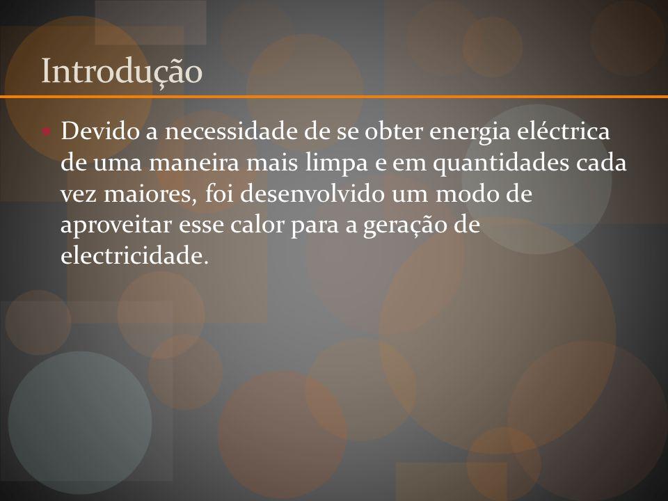Introdução Devido a necessidade de se obter energia eléctrica de uma maneira mais limpa e em quantidades cada vez maiores, foi desenvolvido um modo de