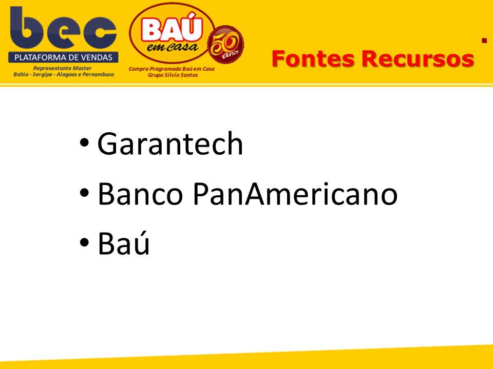 Fontes Recursos Garantech Banco PanAmericano Baú