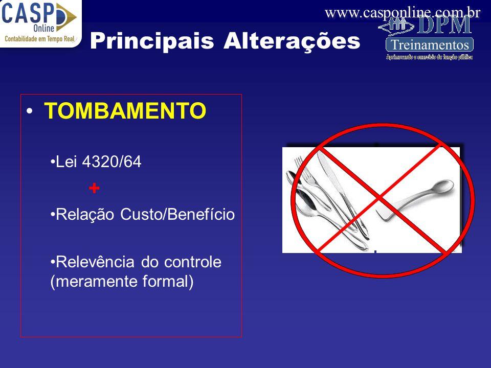 www.casponline.com.br PEÇAS PARA SUBSTITUIÇÃO Com expansão do bem Sem expansão do bem Principais Alterações