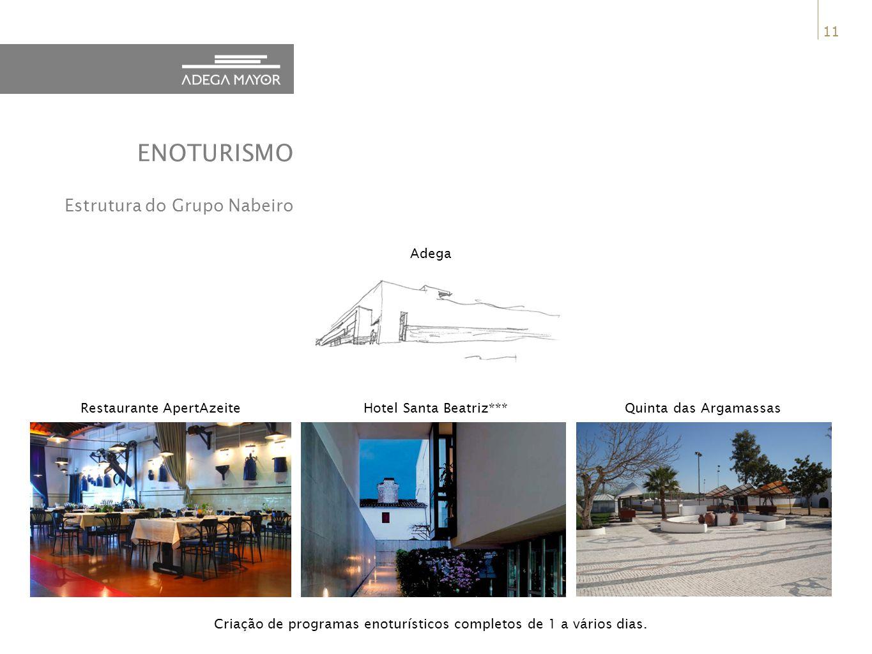 11 Criação de programas enoturísticos completos de 1 a vários dias.