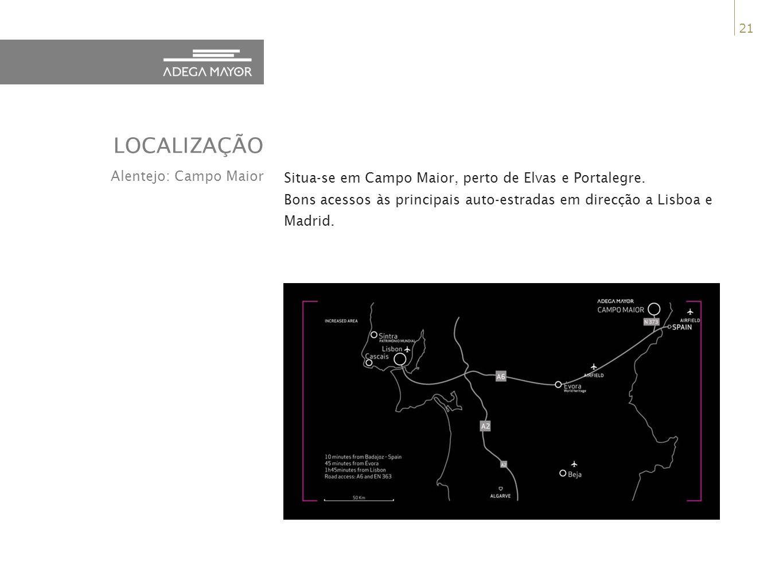 21 Situa-se em Campo Maior, perto de Elvas e Portalegre.