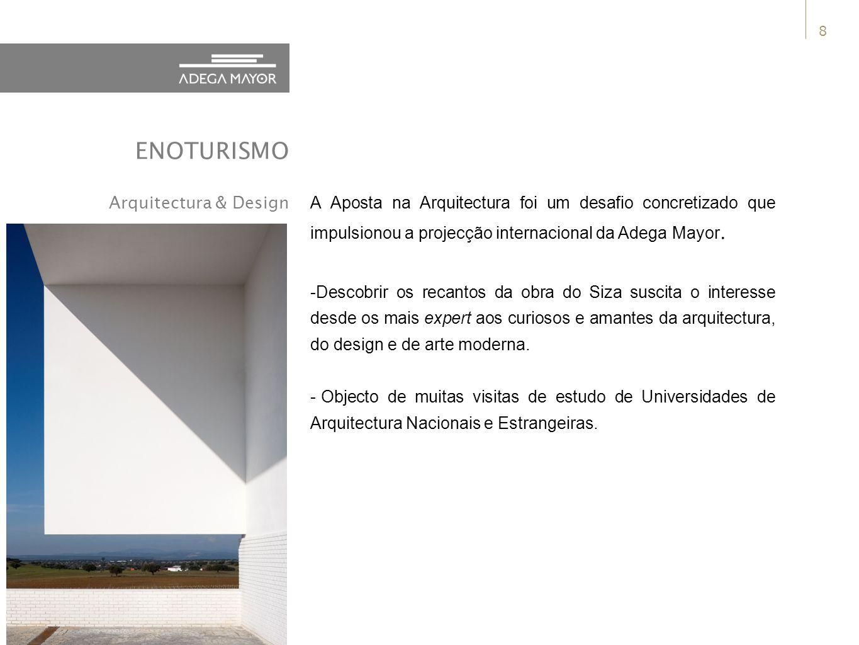 8 A Aposta na Arquitectura foi um desafio concretizado que impulsionou a projecção internacional da Adega Mayor.
