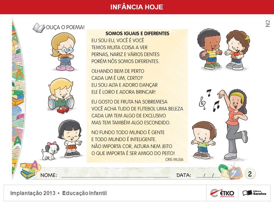 Implantação 2013 Educação Infantil INFÂNCIA HOJE N2