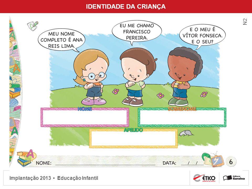 Implantação 2013 Educação Infantil IDENTIDADE DA CRIANÇA N2