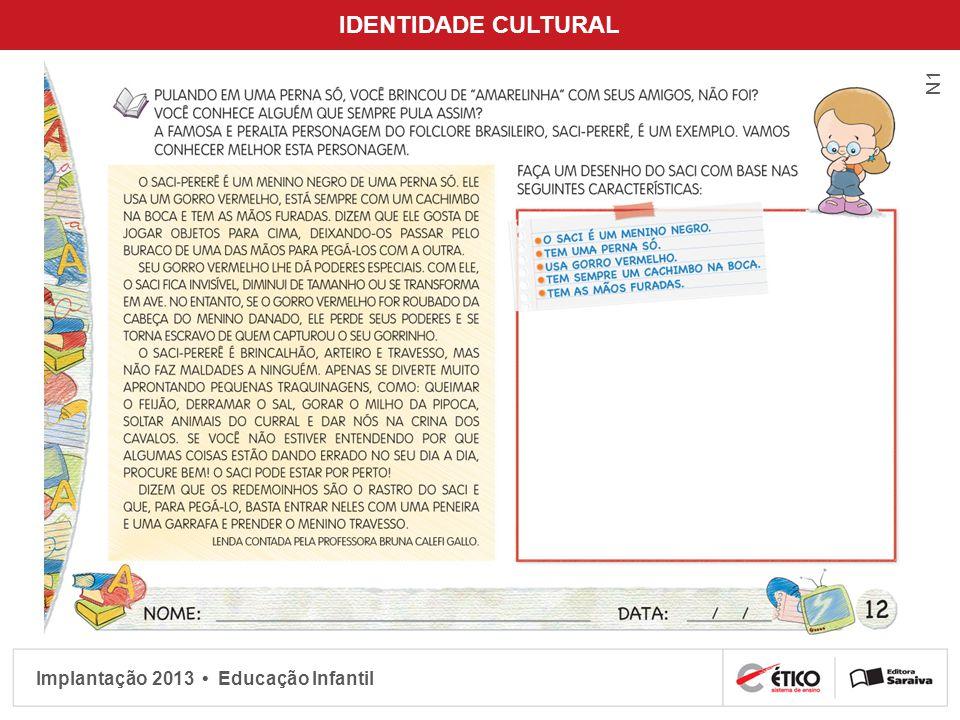 Implantação 2013 Educação Infantil IDENTIDADE CULTURAL N1