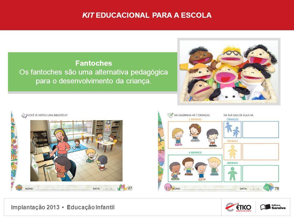 Implantação 2013 Educação Infantil Fantoches Os fantoches são uma alternativa pedagógica para o desenvolvimento da criança. KIT EDUCACIONAL PARA A ESC