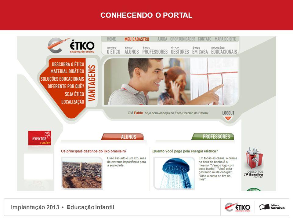 Implantação 2013 Educação Infantil CONHECENDO O PORTAL
