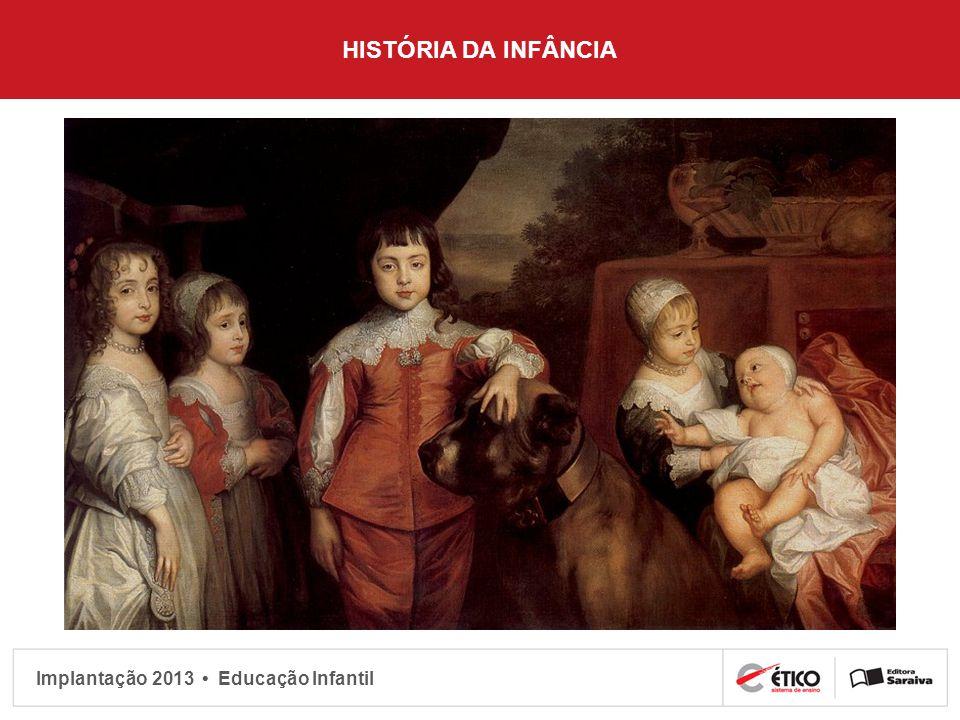 Implantação 2013 Educação Infantil HISTÓRIA DA INFÂNCIA
