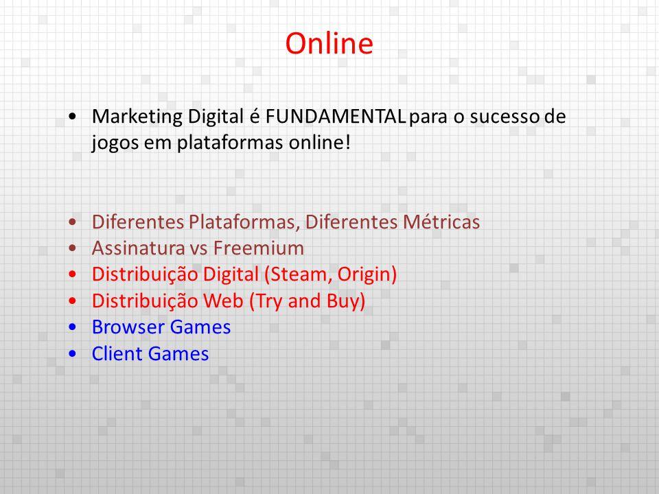 Marketing Digital é FUNDAMENTAL para o sucesso de jogos em plataformas online! Diferentes Plataformas, Diferentes Métricas Assinatura vs Freemium Dist