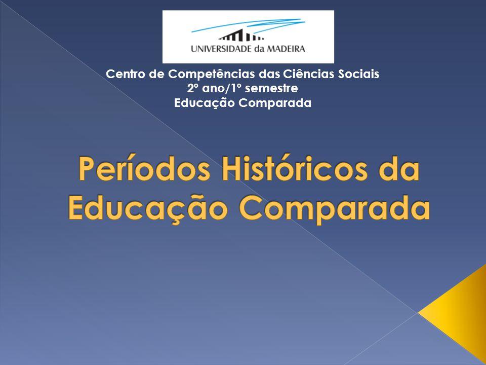 Centro de Competências das Ciências Sociais 2º ano/1º semestre Educação Comparada