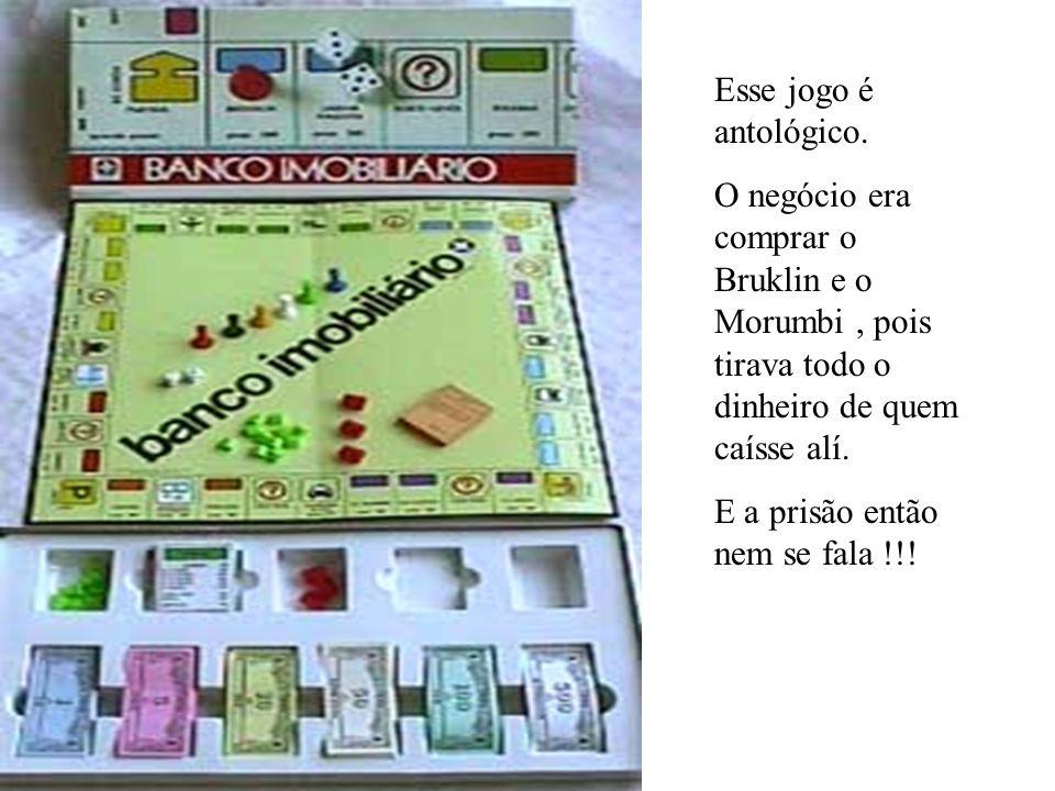Esse jogo é antológico. O negócio era comprar o Bruklin e o Morumbi, pois tirava todo o dinheiro de quem caísse alí. E a prisão então nem se fala !!!