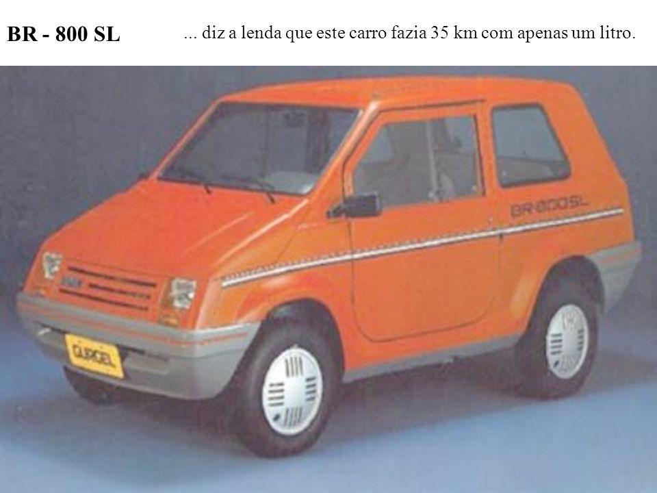 BR - 800 SL... diz a lenda que este carro fazia 35 km com apenas um litro.